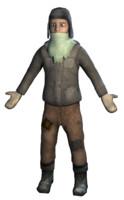 3d model homeless boy refugee