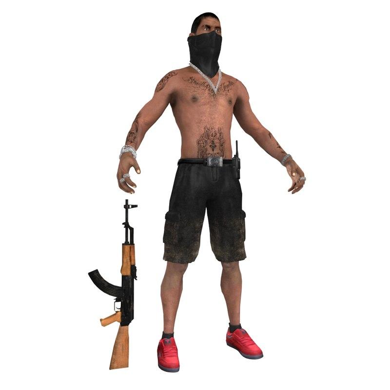 3d hispano gangsta model
