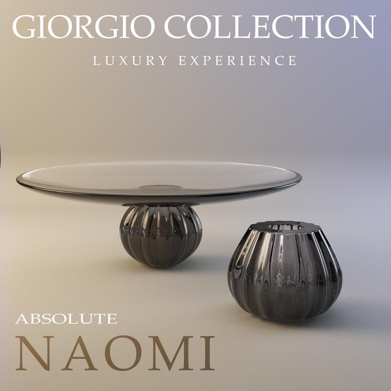realistic vases naomi absolute 3d max
