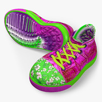 spring sneakers 3d model