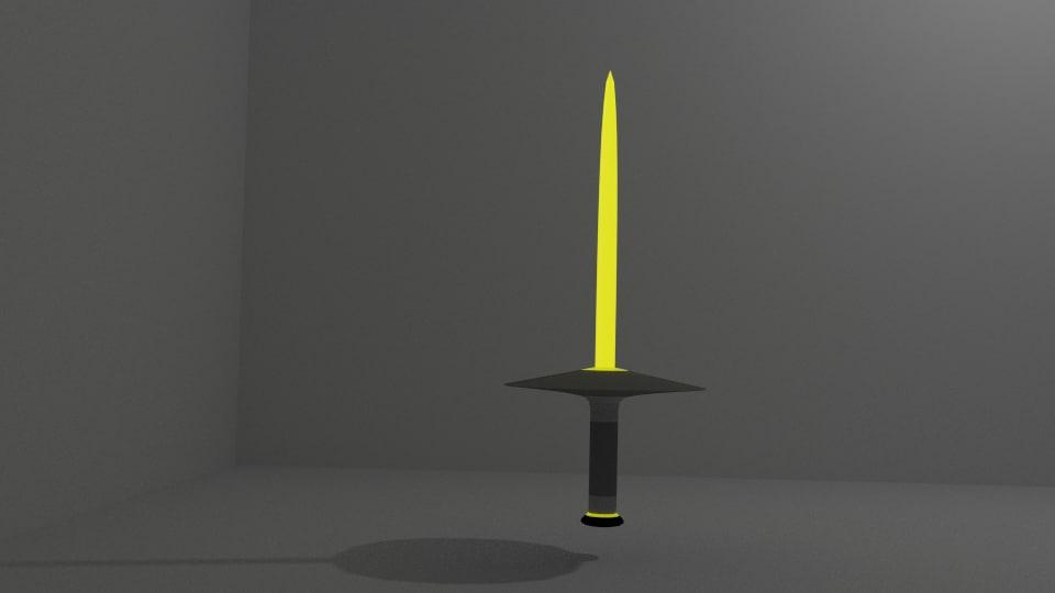 blend glowing sword