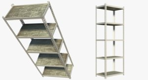 3d model realistic metal rack