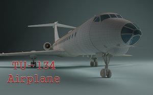 3d airplane tu-134
