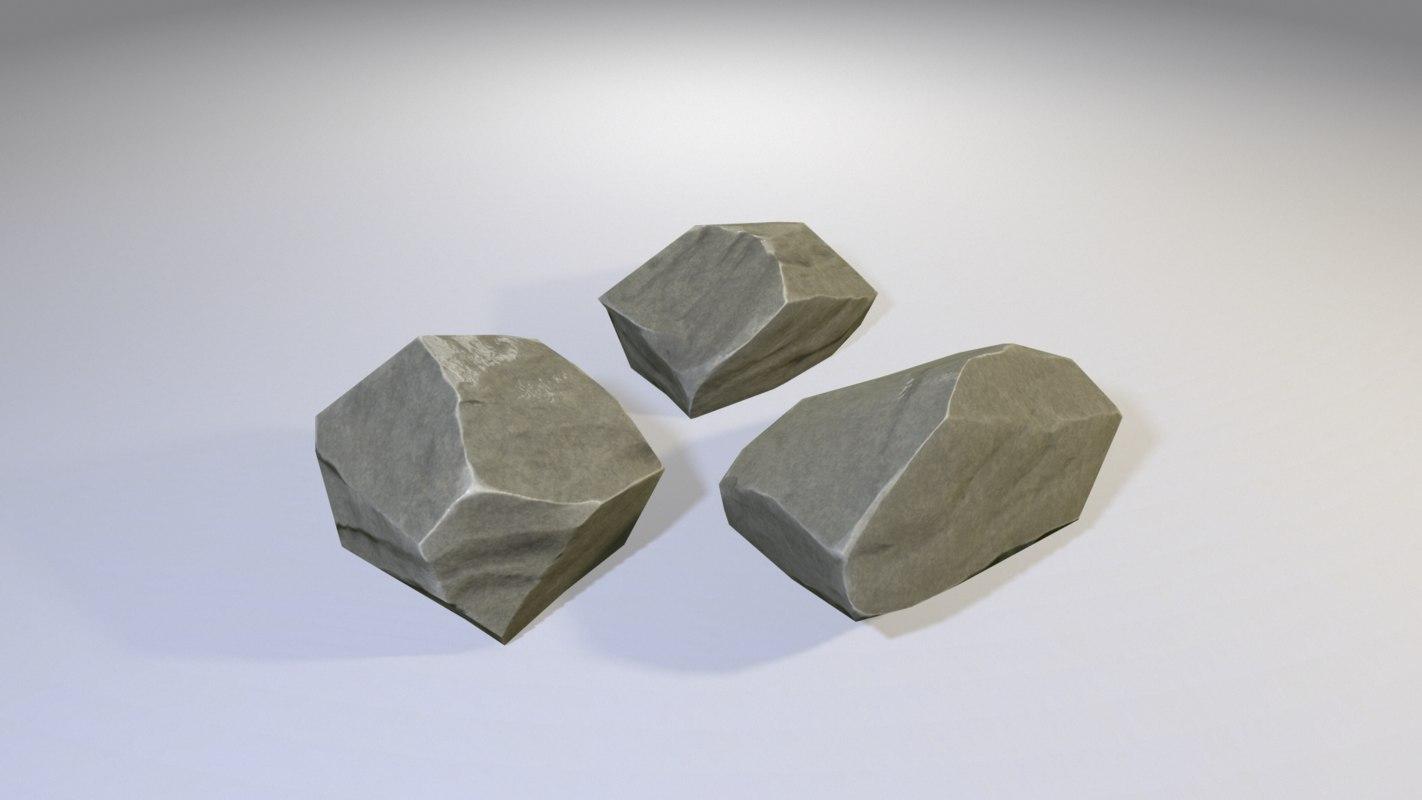3d max ready stones