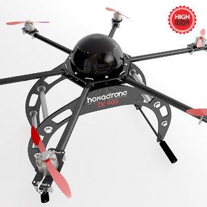 hexacopter drone 3d model
