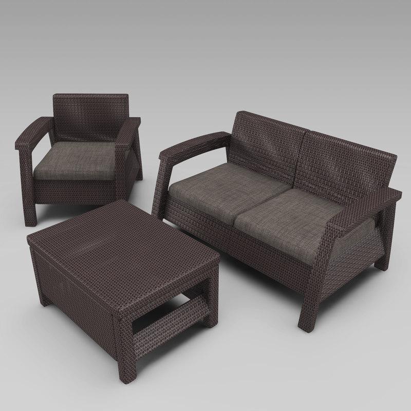 3d wicker garden furniture keter
