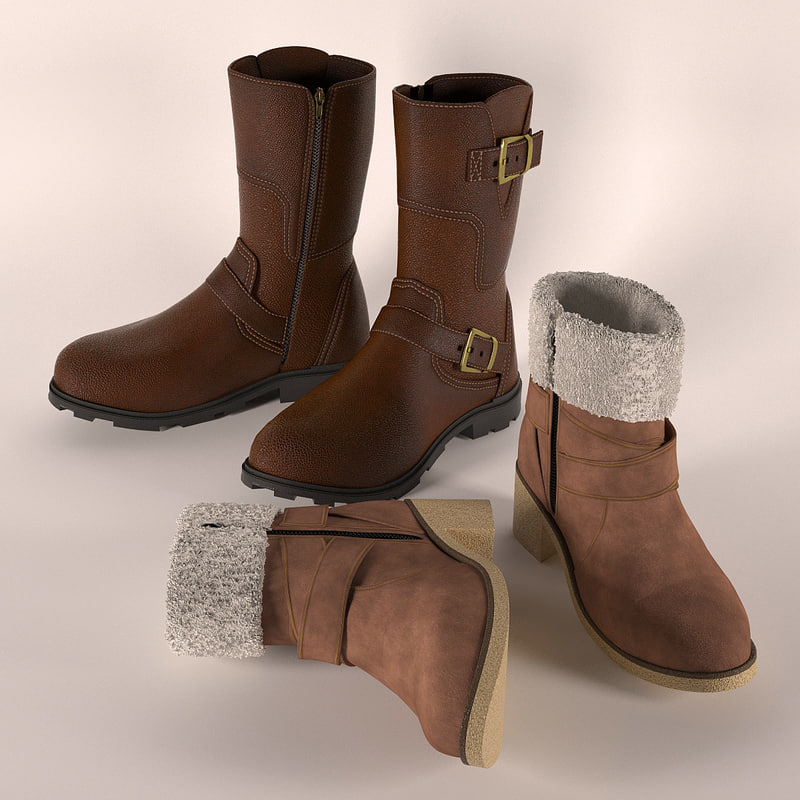 pairs boots 3d model