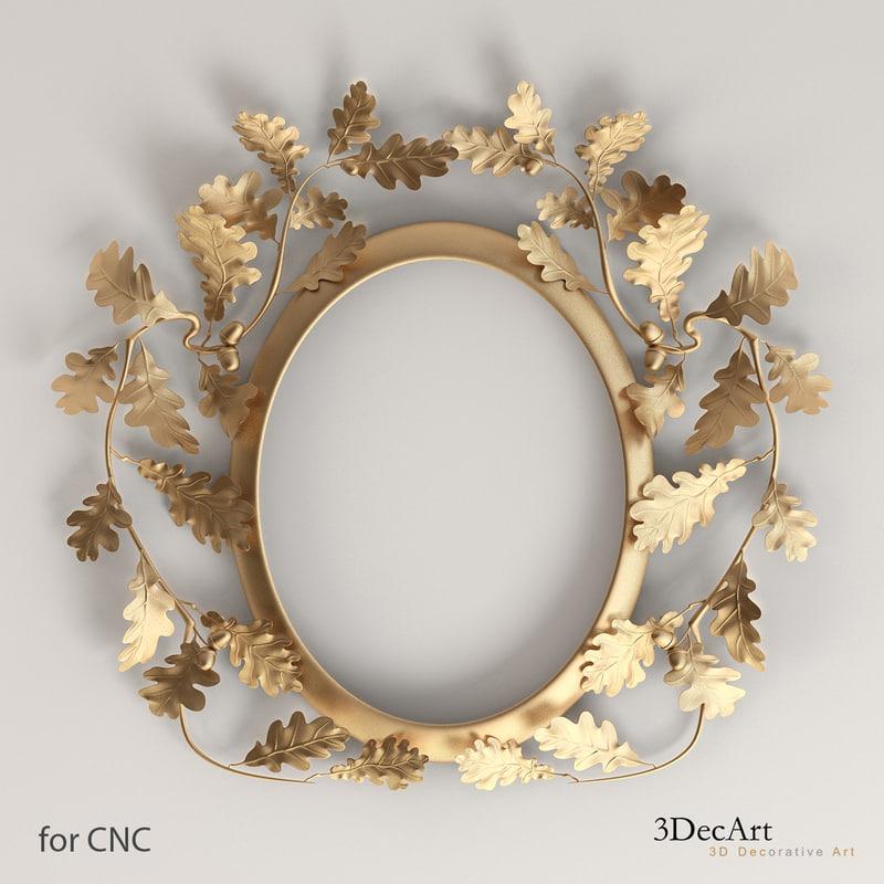oval frame oak leaves max