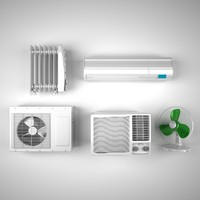 Climate equipment, Airconditioners, Fan and heater