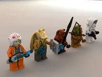 3ds max ewok minifigure