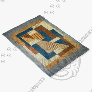 momeni rugs abstract nw06blu 3d 3ds