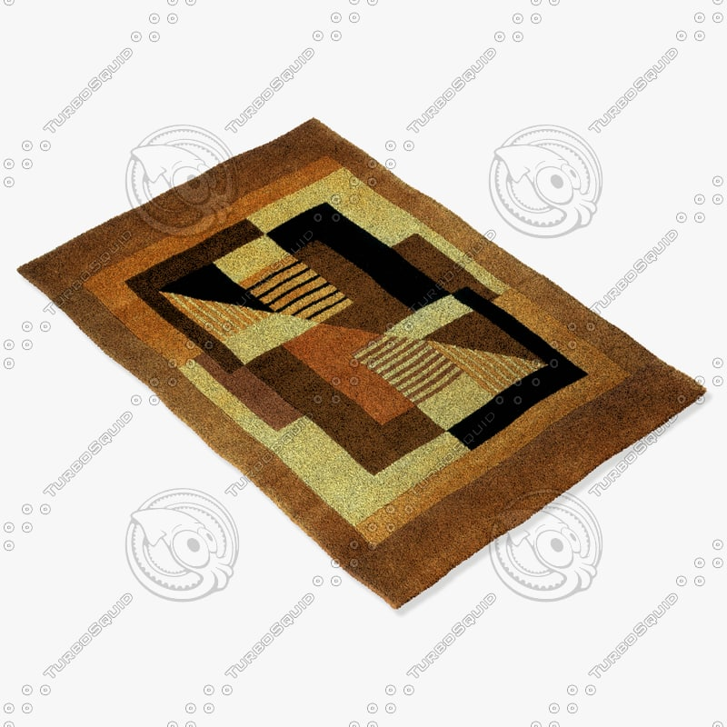 momeni rugs abstract nw06gld 3d model