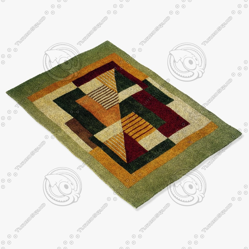 3d model momeni rugs abstract nw06mti