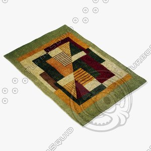 3d model momeni rugs abstract nw06mti