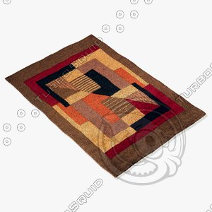 3d model momeni rugs abstract nw06pom