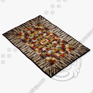 momeni rugs abstract nw17mti 3d model