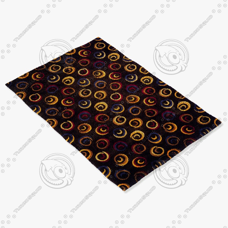momeni rugs abstract nw18chr 3d model