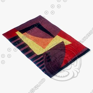 momeni rugs abstract nw22plm 3d model