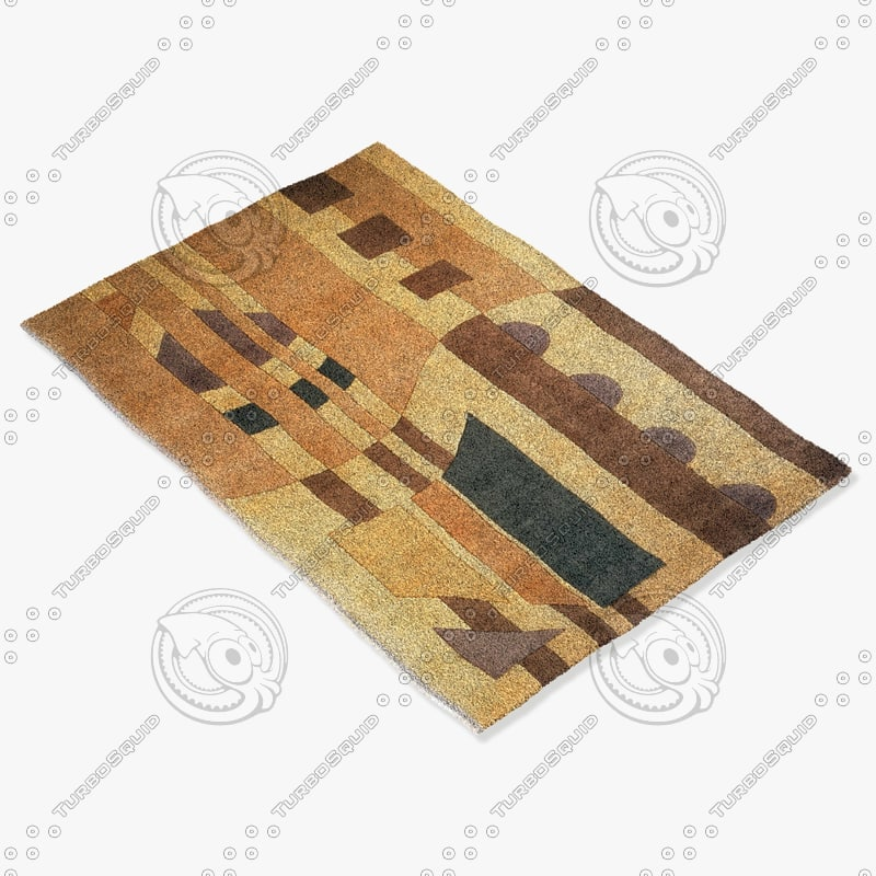 momeni rugs abstract nw31ivy 3d model