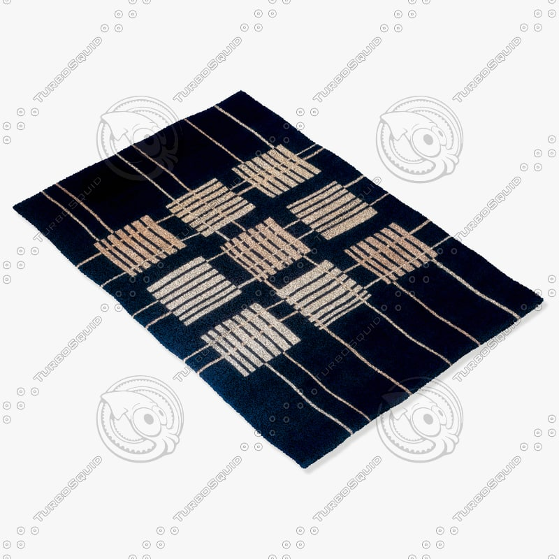 momeni rugs abstract nw48blk 3d 3ds