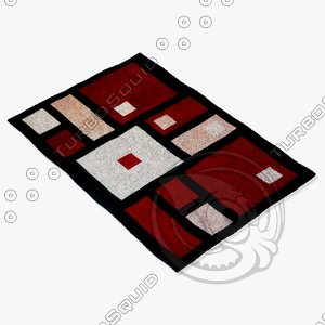 momeni rugs abstract nw50blk 3d model