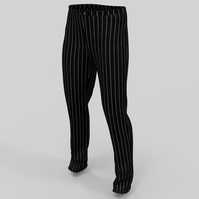 3d c4d men s trousers
