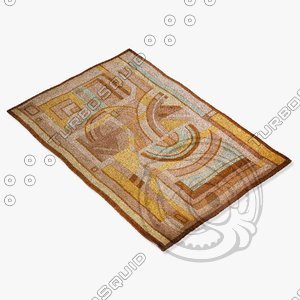 momeni rugs abstract nw91mti 3d model