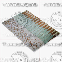 momeni rugs abstract nw92blu 3d model