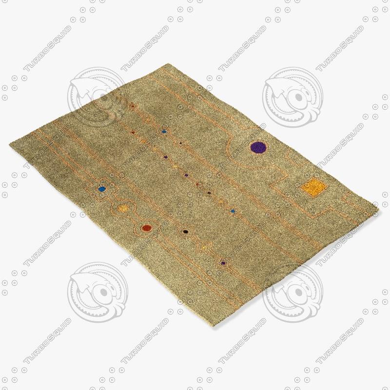 3d model momeni rugs abstract nw101sag