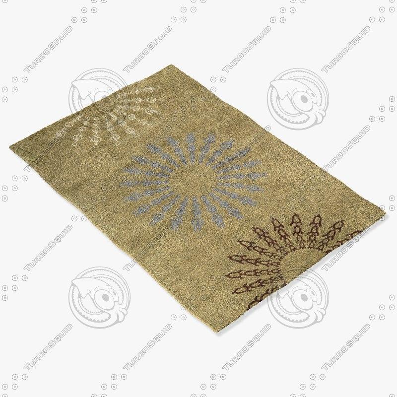 3d model momeni rugs abstract nw107sag