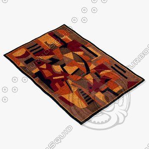 momeni rugs abstract nw108pom 3d 3ds