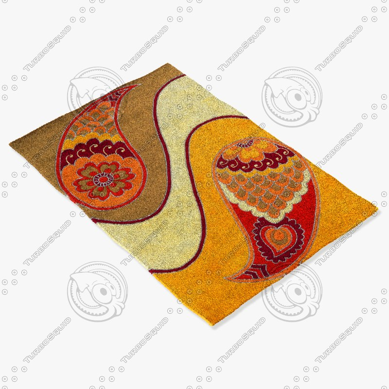 3d model momeni rugs abstract nw109mti