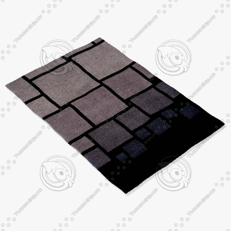 3d model momeni rugs abstract nw127blk
