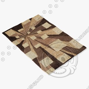 momeni rugs abstract nw128cot 3d model