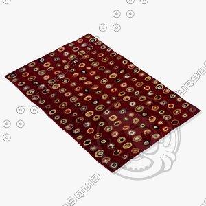 momeni rugs abstract odyssod01bur 3d model