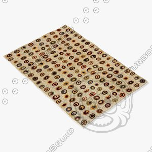 momeni rugs abstract odyssod01ivy 3d model