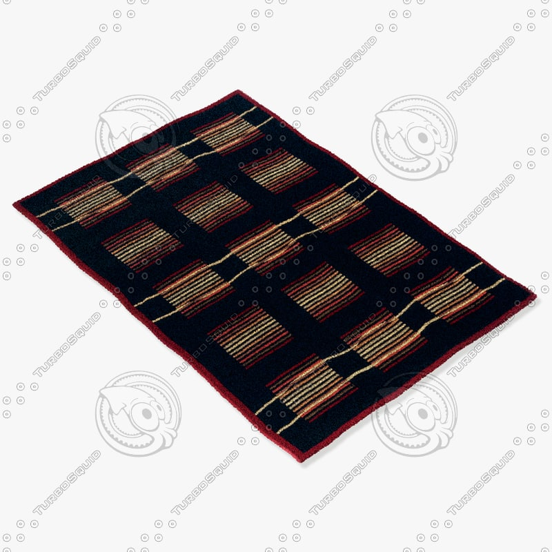 momeni rugs abstract odyssod02blk 3d model