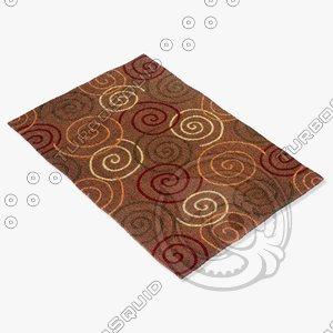 momeni rugs abstract odyssod05brn 3d max