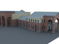 3d model railway building orel