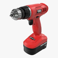Cordless Drill Black and Decker 3D Model