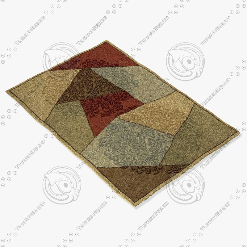 momeni rugs abstract vr10mti 3d model