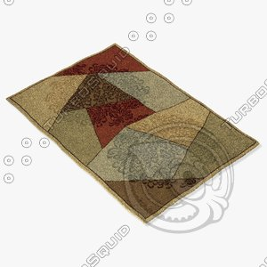 momeni rugs abstract vr10mti 3d model
