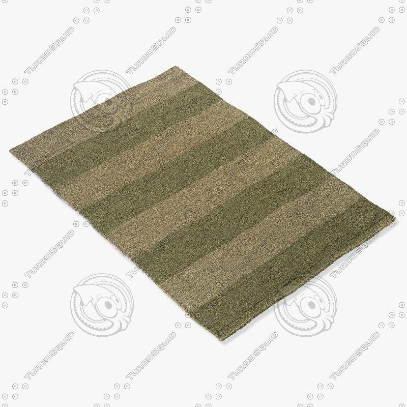 momeni rugs abstract vr18sag 3d model