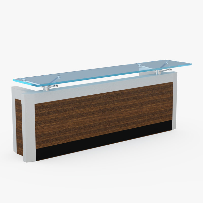 Office Receptiondesign: Reception Desk 3d Model