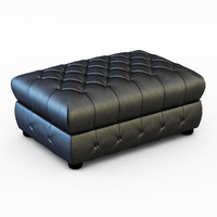 pouf chesterfield 3d obj
