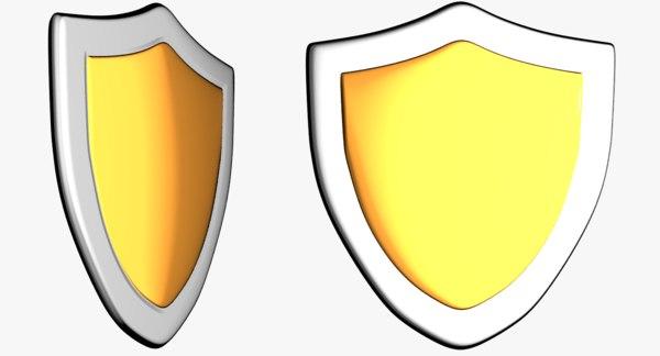 3d model cartoon shield toon
