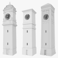Clock tower pack with interiors