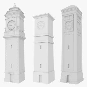 3dsmax pack clock towers