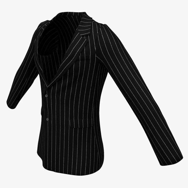 mens suit jacket 3d model