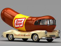 3d 1952 o mayer wienermobile model